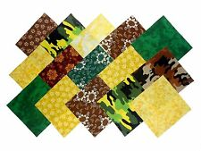 """40 5"""" Quilting Fabric Sqs Kickin Camo Forest Galore Charm Pack10 Different/4 Ea"""