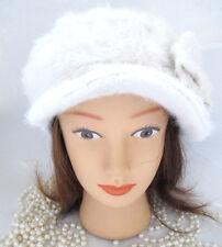 Lili and Poppy Angora Winter Hat Cream White