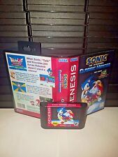 Sonic the Hedgehog - Classic Heroes Game for Sega Genesis! Cart & Box!
