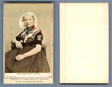 Couvée, La Haye, costume des pays bas Goes vintage carte de visite, CDV  Tirag