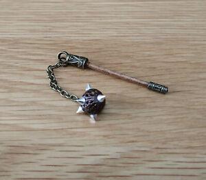 1/12 dolls house miniature Handmade Mace Tudor Medieval Weapon Axe Spear LGW