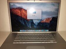 "Apple Macbook Pro A1229 17"" 2.4Ghz - 4GB RAM - 120GB SSD - 1920HD  NO RESERVE"