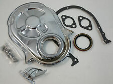 BB Chevy BBC Chrome Steel Timing Cover Kit W/ Gaskets & Tab 396 402 427 454  V8