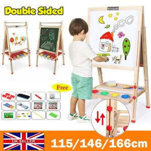 Kids Easel Wooden 3 in 1 Blackboard Whiteboard Childrens Drawing Art Chalk Board