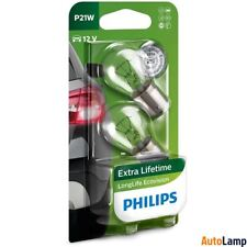 PHILIPS P21W 182 LongLife EcoVision Rear indicator Bulb 12498LLECOB2 Twin Pack