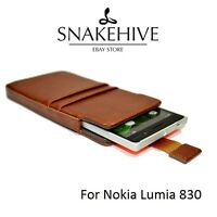 Snakehive® Nokia Lumia 830 Leather Pouch Case Cover