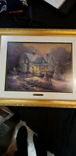 Blessing Of Christmas By Thomas kinkade Great Condition And Framed .
