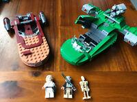 Lego Star Wars Flash Speeder 75091 And Lukes Land Speeder (incomplete)