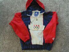 Vtg Authentic 1984 Starter USA Olympics OLYMPIC Windbreaker Hoodie Jacket sz S