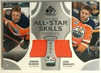 2019-20 Connor McDavid Leon Draisaitl SP Game Used All-Star Skills Fabrics Duals