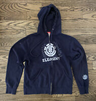 Element Skateboards Vintage Zip Hoodie, Blue, Size Small