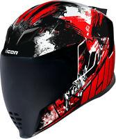 Icon Airflite Stim Red Full Face Helmet Adult All Sizes