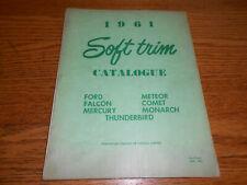 1961 FORD & MERCURY ALL MODELS SOFT TRIM CATALOG / '61 PARTS MANUAL