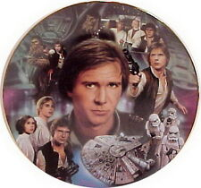 Vintage Star Wars Heroes & Villains Ceramic Collector Plate- Han Solo Montage