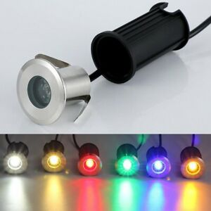 1W 42mm 52mm 62mm LED Underground Light Inground Floor Lamp Stainless IP68 12V