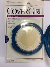 CoverGirl Clarifying Pressed Powder For ACNE Prone Skin LIGHT NEW