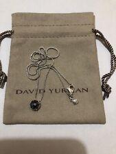 David Yurman Chatelaine Pendant Necklace with Hematite