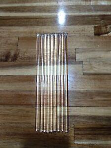 "10 Glass 8 1/4"" Rods Stick Chandelier Light Replacement Part Lamp Swizzle"