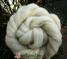 15 Feet Natural Tan Chai Tea Wool Roving Tas Merino Craft Spinning Felting Fiber