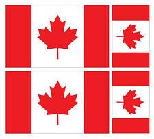 4 X CANADIAN CANADA FLAG VINYL CAR VAN IPAD LAPTOP STICKER