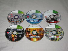 6 x Xbox 360 Games - Saints Row - FIFA - UFC - Far Cry - BF3 - Sleeping Dogs Lot