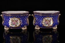 More details for antique pair of french cobalt
