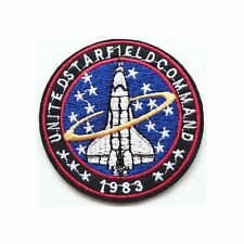 Space Shuttle Command Retro Iron On Embroidered Patch USA Space Shuttle Sci Fi N