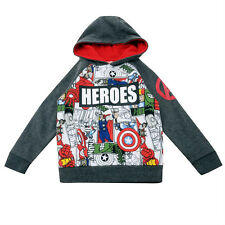 BNWT Official Marvel AVENGERS/SPIDERMAN Hoody 2-10y Winter Fleece Comic Heroes