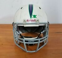 White Riddell Football Helmet With Face Mask Size Small