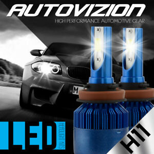AUTOVIZION LED HID Headlight Conversion kit H11 6000K for Kia Sportage 2011-2016