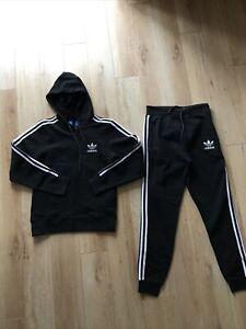 Adidas Fleece Tracksuit Joggers & Hoodie New Small BNWT