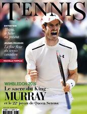 Tennis Magazine 477 Août 2016 WIMBLEDON LE SACRE DU KING MURRAY