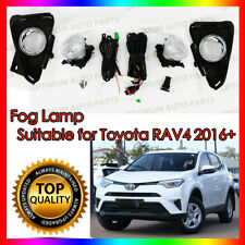 Driving Fog Lights Lamps Complete Kit to suit Toyota Rav4 2016-2018 WITH BULBS