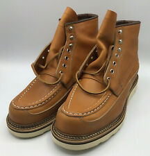 Red Wing Shoes 2nds 9850 Irish Setter Canoe Moc Mens 8.5E Gold Russet Sequoia