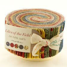 LILIES of the FIELD ~ JAN PATEK QUILTS ~ MODA ~ 100% COTTON ~40 STRIP JELLY ROLL