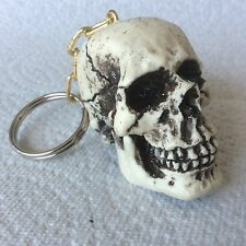 Made USA rat hot rod Skull Skeleton head Keyring Keychain punk goth 32KC