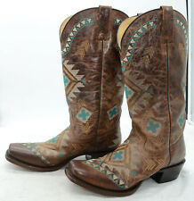 Women's Roper Mai Boots Handcrafted With Flextra Calf Leather Western Sz 8.5