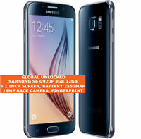 SAMSUNG S6 32GB G920F unlocked android 16mp camera quad-core Amoled smartphone