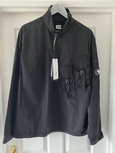 C.P. Company Garment-Dyed Chrome Overshirt in Black, RRP £325 Size UK L. BNWT