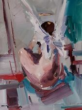 JOSE TRUJILLO IMPRESSIONISM OIL PAINTING NUDE ANGEL CONTEMPORARY ORIGINAL ART