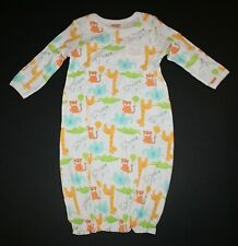 New Gymboree Sleep N Play or Gown Zoo Animals Size 0-3m NWT Giraffe Elephant