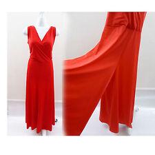 Vintage 70s Jumpsuit Size L Red Pants Dress Romper Lounge One Piece Disco 60s