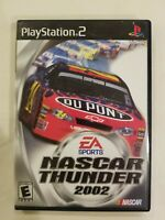 NASCAR Thunder 2002 (Sony Playstation 2, 2001) PS2 Game Complete TESTED FREE S/H
