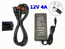 12V 4A 48W AC DC Power Supply+Power Cord CCTV Camera LED Strip Light Adapter PSU