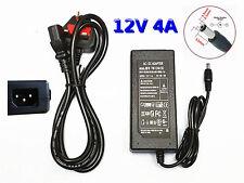 12V 4A 48W AC DC Alimentatore + Cavo di alimentazione CCTV Camera Luce a LED Striscia Adattatore PSU