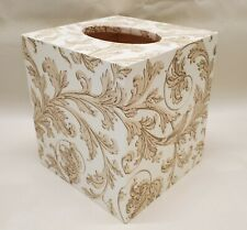Made To Order, Handmade Decoupage Tissue Box Cover, Elegant Swirl Pattern