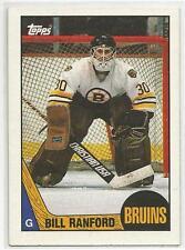 BILL RANFORD 1987-88 Topps Hockey ROOKIE card #13 Boston Bruins NR MT