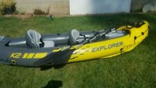 Intex Explorer K2 - two person Inflatable Kayak/canoe new/boxed + pump & paddle