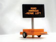 Miniatronics # 8500601 Highway Sign w/3v DC Trans Rd Narrows Merge Left HO MIB