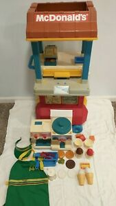 Vintage 1988 Fisher Price McDonalds Drive Thru Playset with Accessories